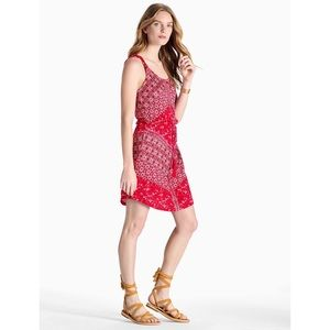 NWT Lucky Brand Red Floral Print Dress Medium